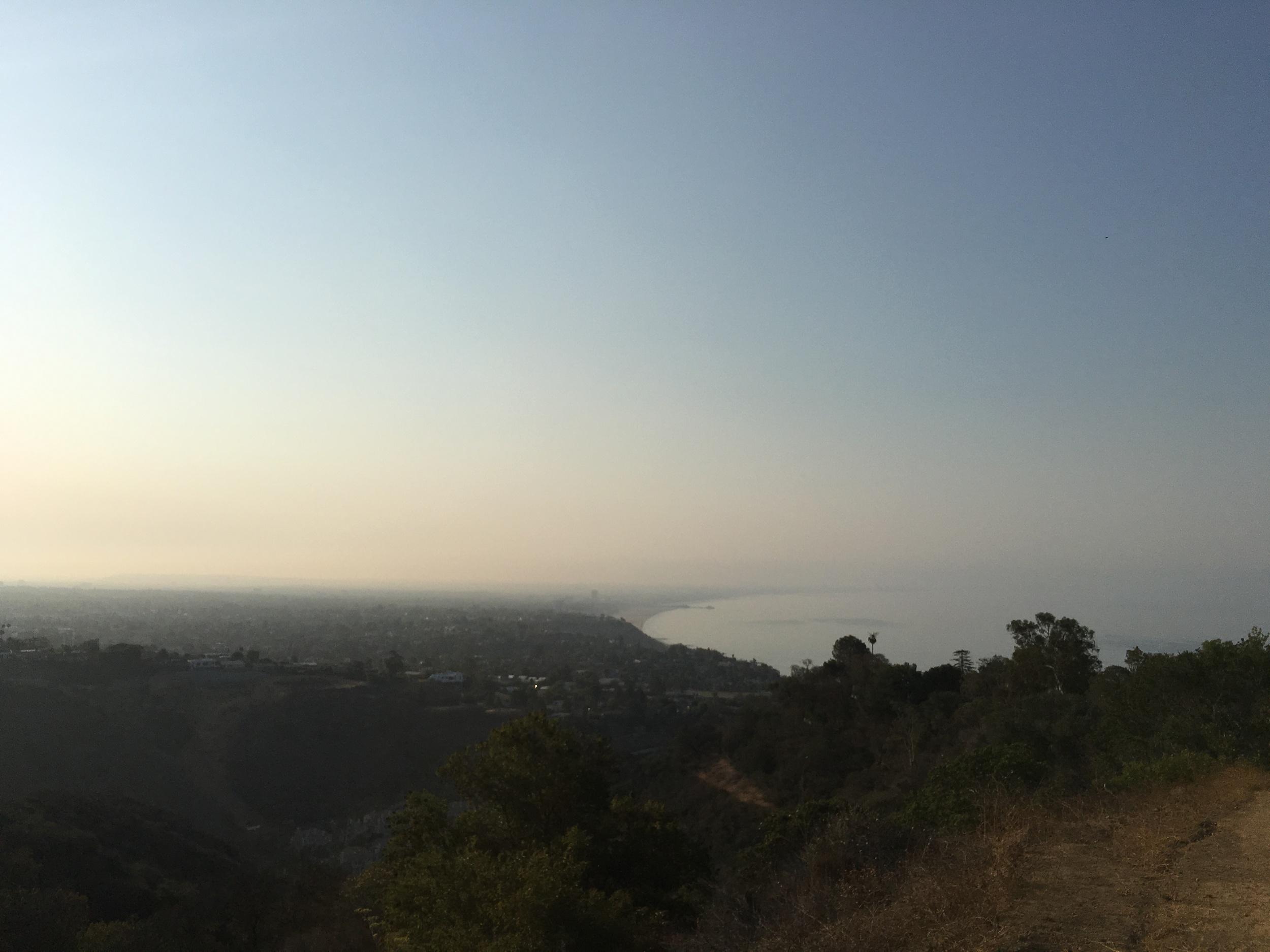 Beautiful view looking back towards Santa Monica