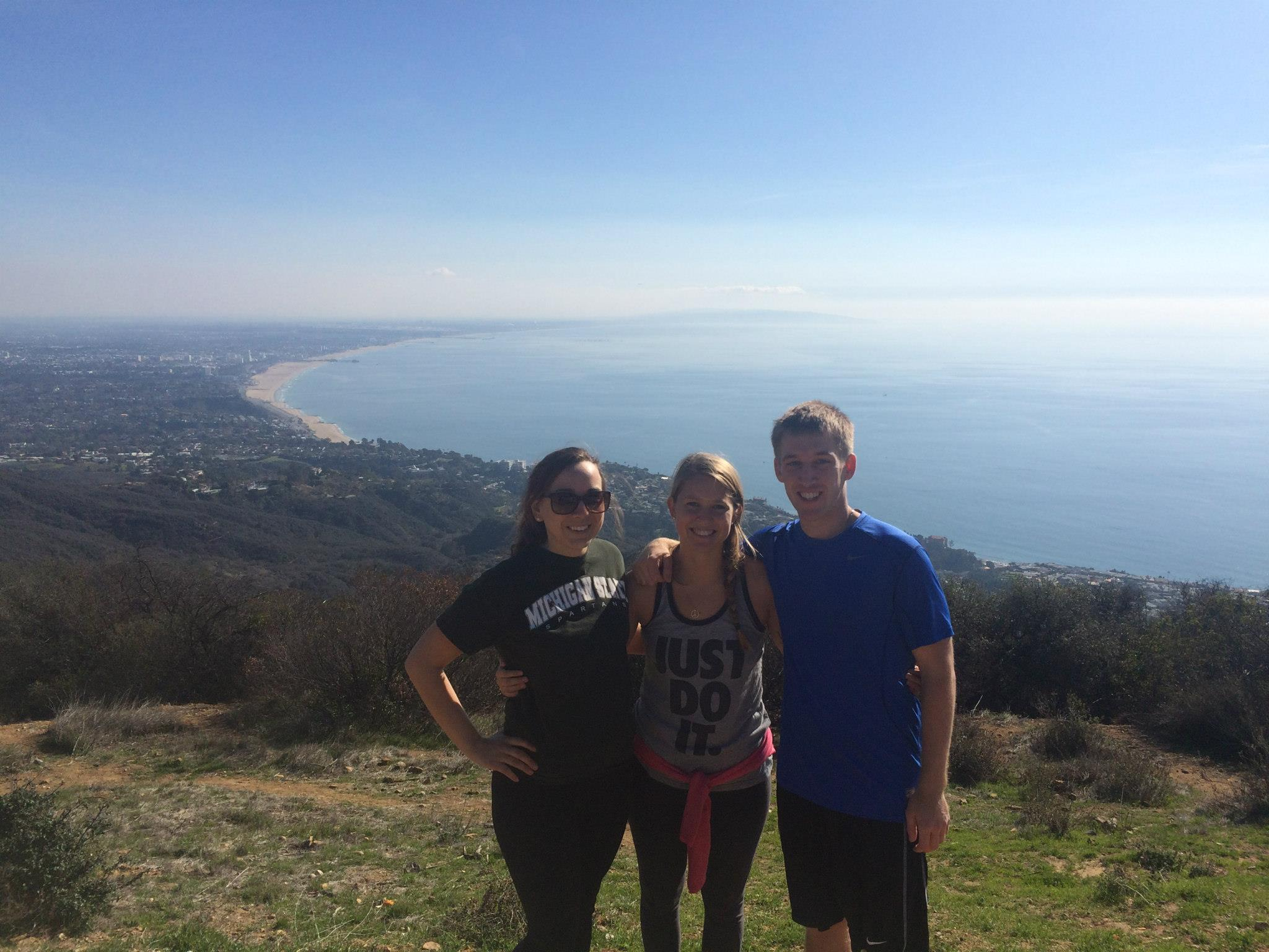 The first time Ben, Hannah and I hiked this trail in January 2015.