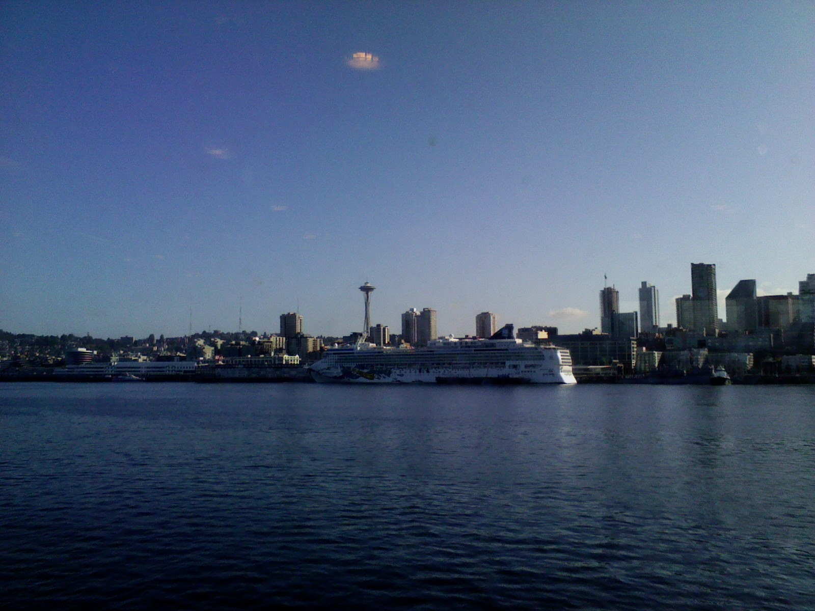 ...so here's a closer photo with a giant cruise ship in the way.