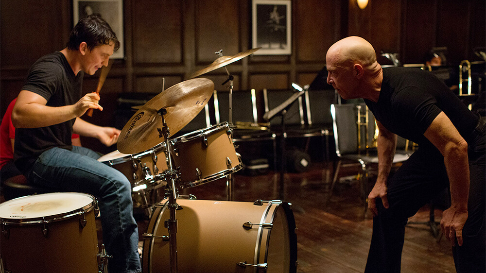 "Writer-director Damien Chazelle's personal experiences in a hyper-competitive high school jazz band helped to inspire ""Whiplash."""