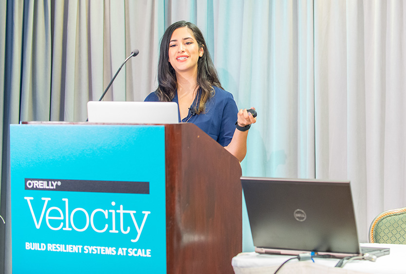 Velocity — New York, NY  Design Decisions Through the Lens of Performance |  Slides  |  Oct 2015 |   Photo credit:  O'Reilly