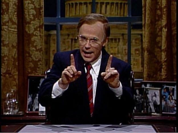Carvey as George H.W. Bush on Saturday Night Live .