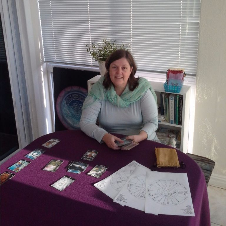 Photo; Susan in her consulting room.