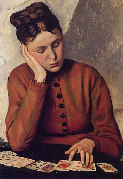 """The Fortune Teller"" by Frédéric Bazille (1841-1870)"