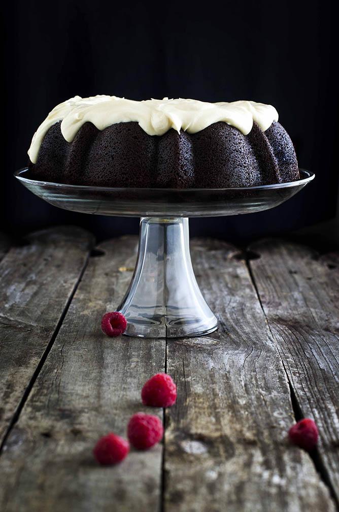 Raspberry Guinness Cake