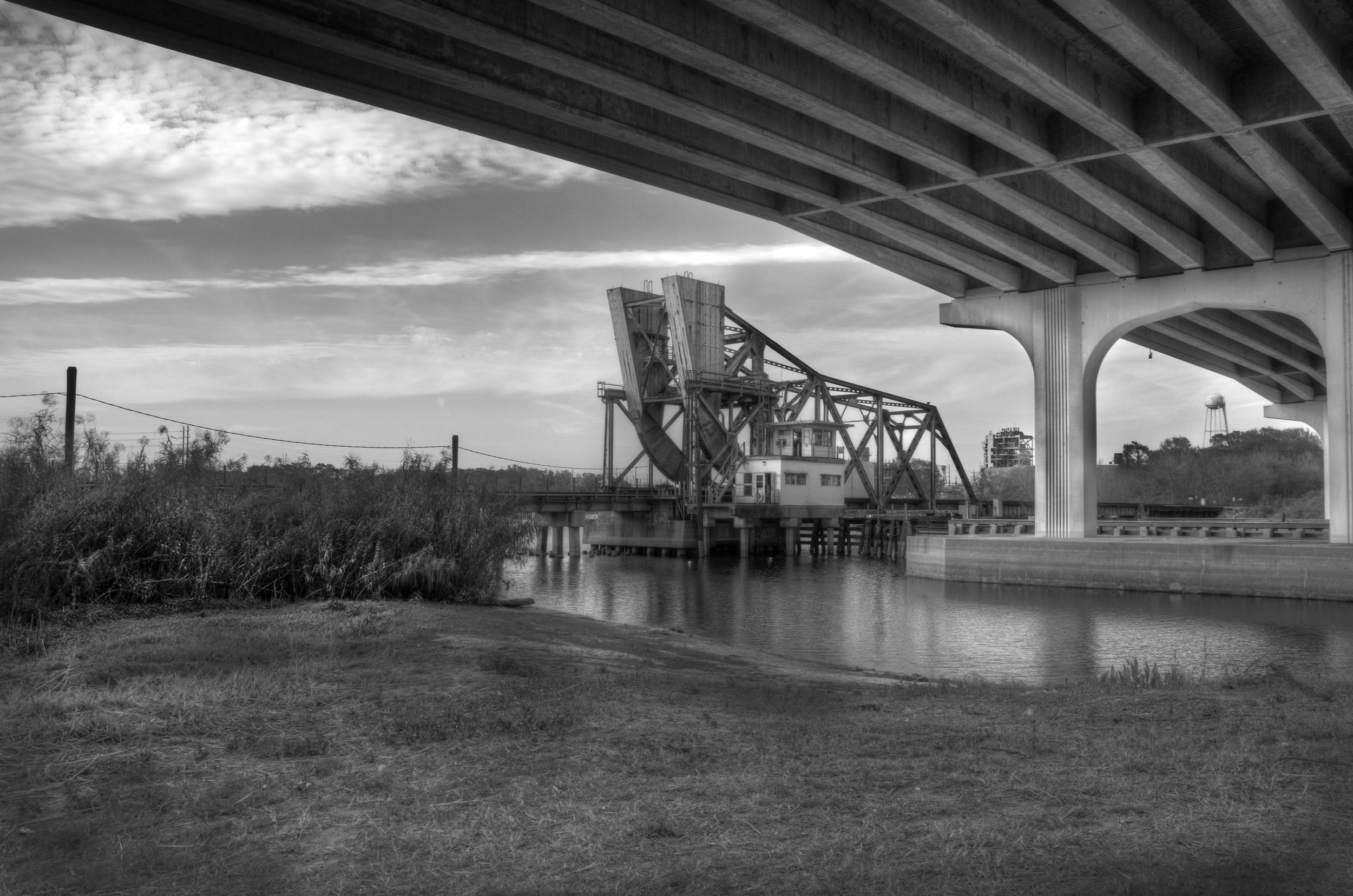 Historic Railroad Counterweight Bridge