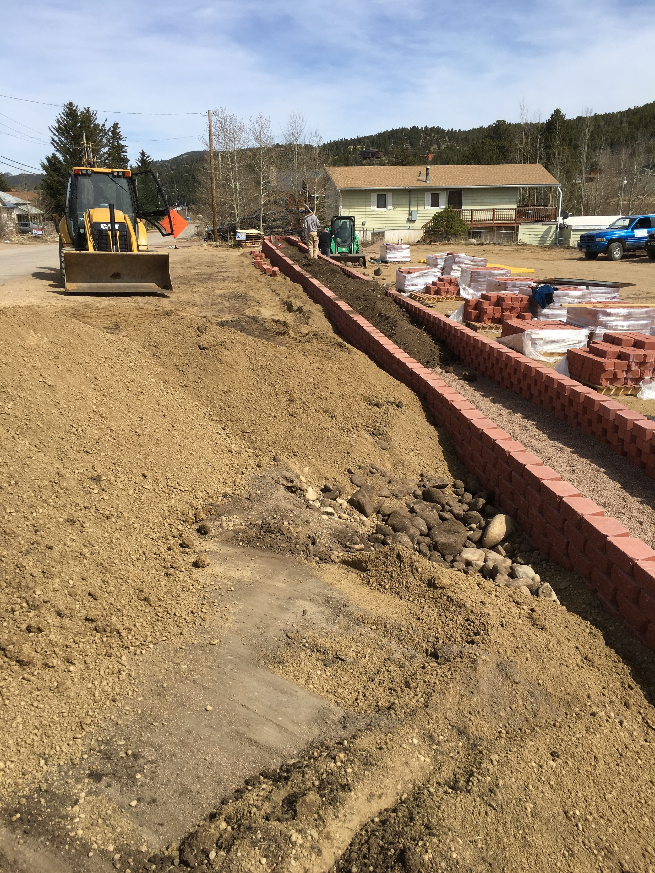 Leveling the lot to start