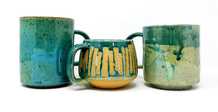 (Failed) Speckled Jade Mugs