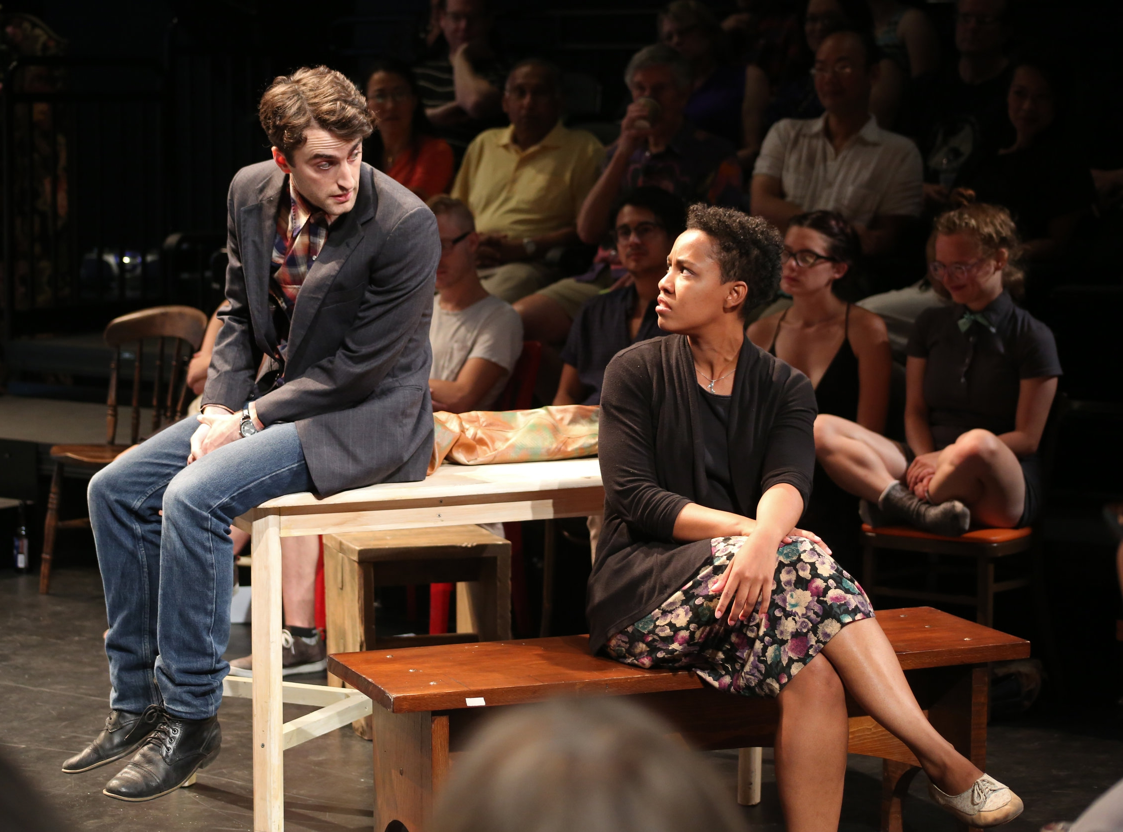 Charlie Thurston (left) and Kemiyondo Coutinho (right) in  Orpheus Descending