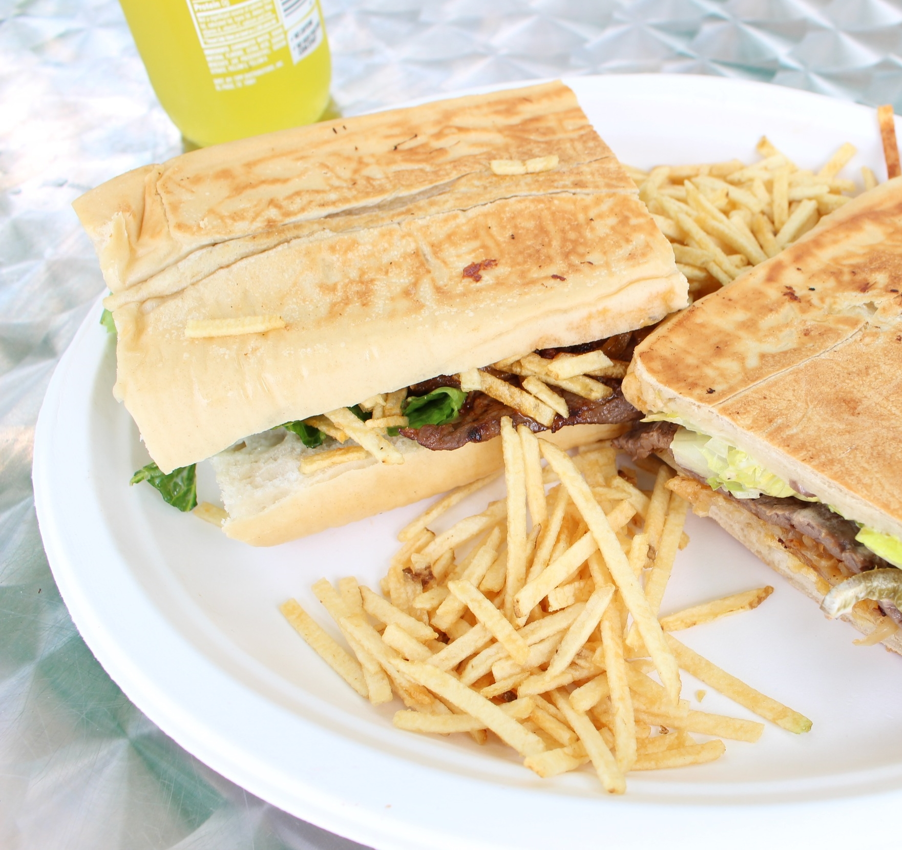 Steak Sandwich with papitas