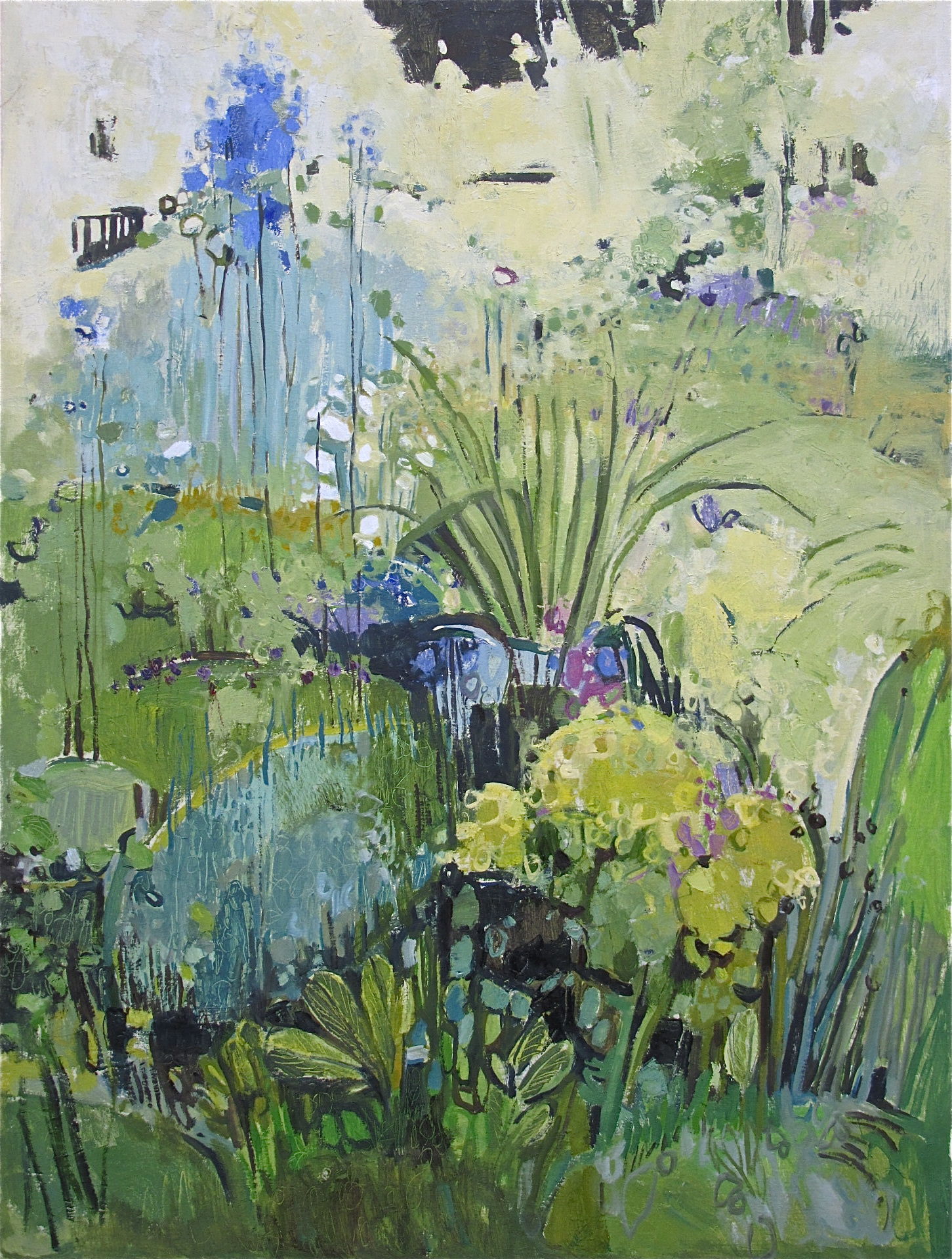 Delphiniums and Lilies, BrickWick
