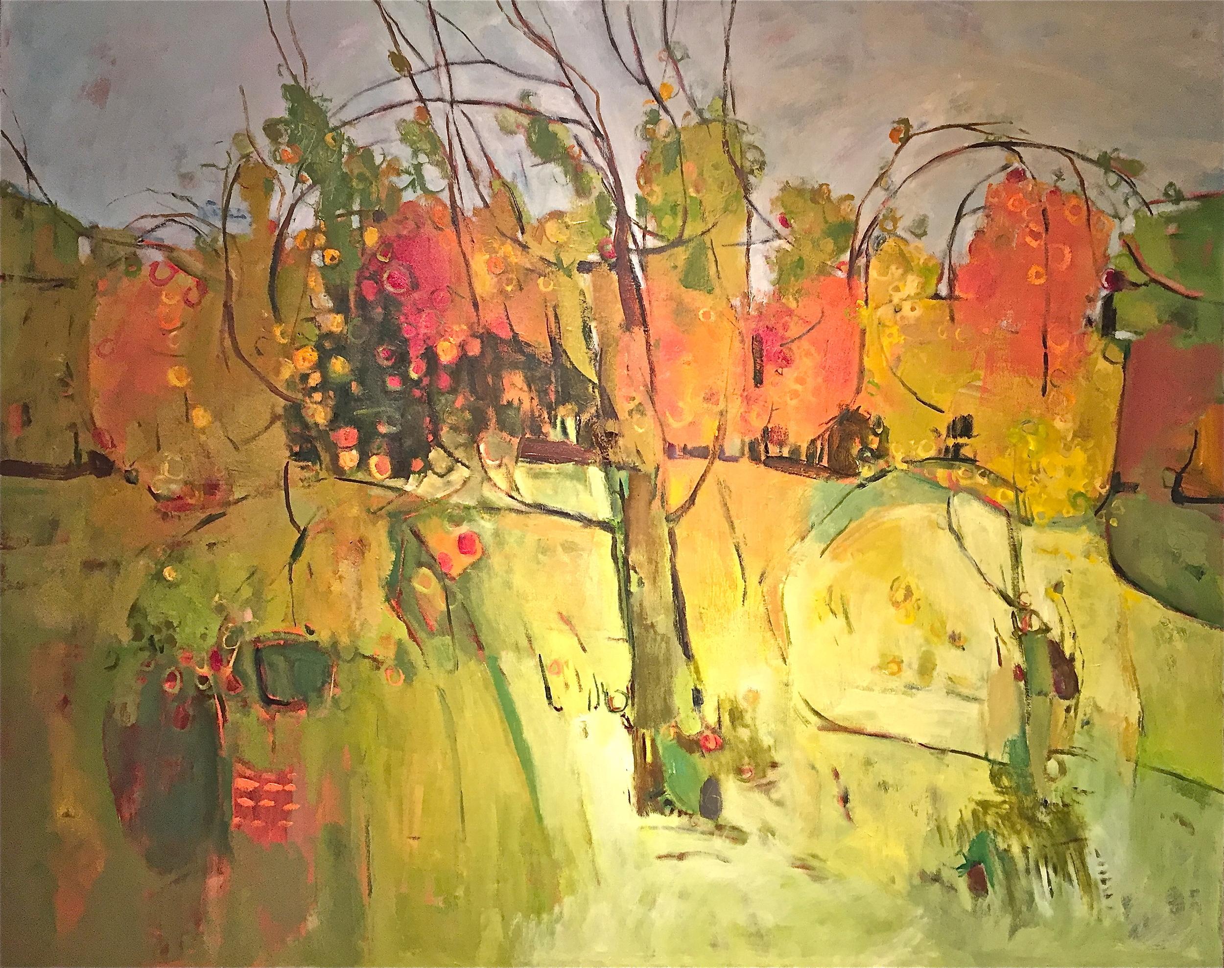 Laden apple tree, BrickWick