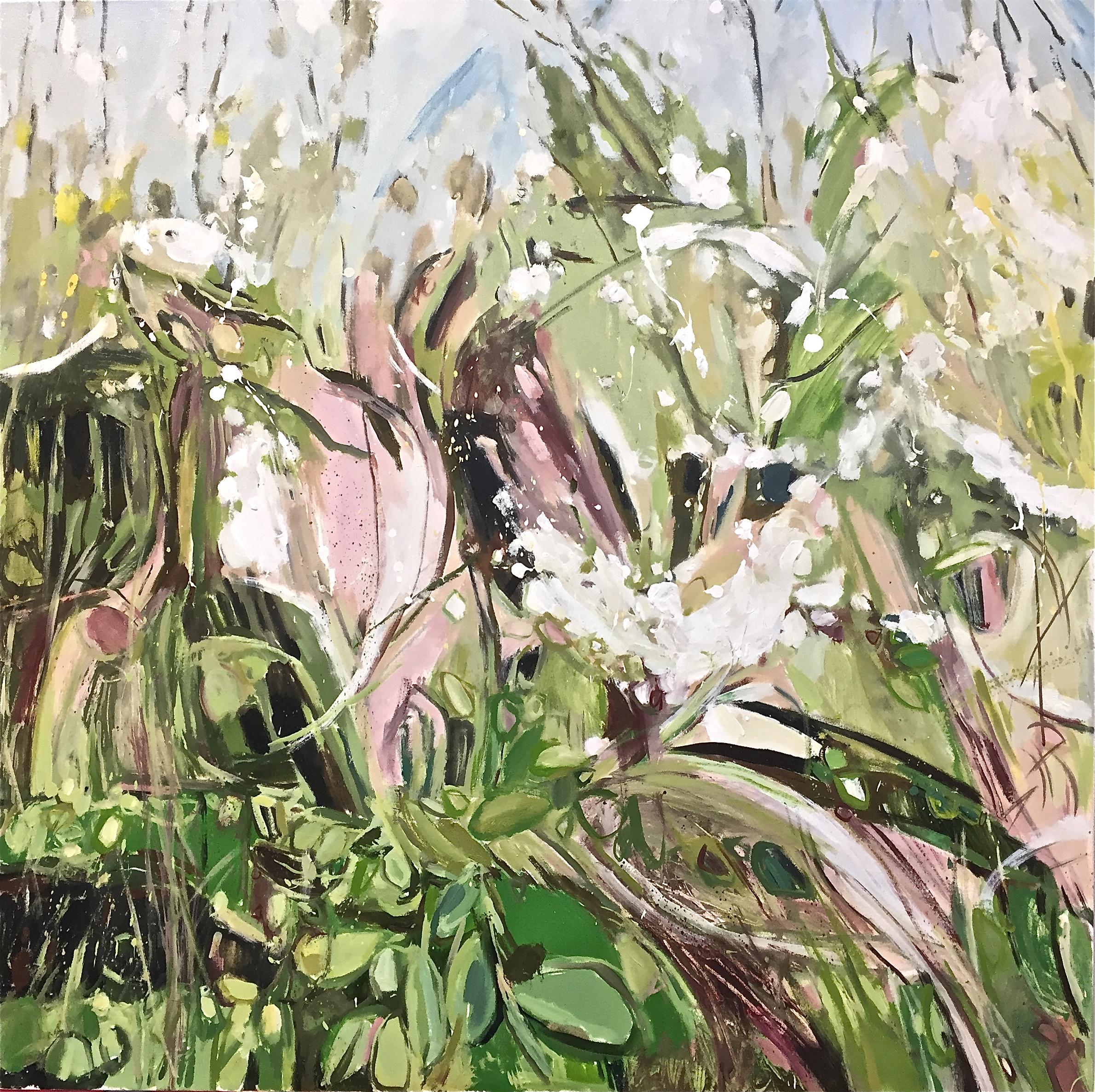 Blackthorn Hedgerow Gunthorpe, triptych 3