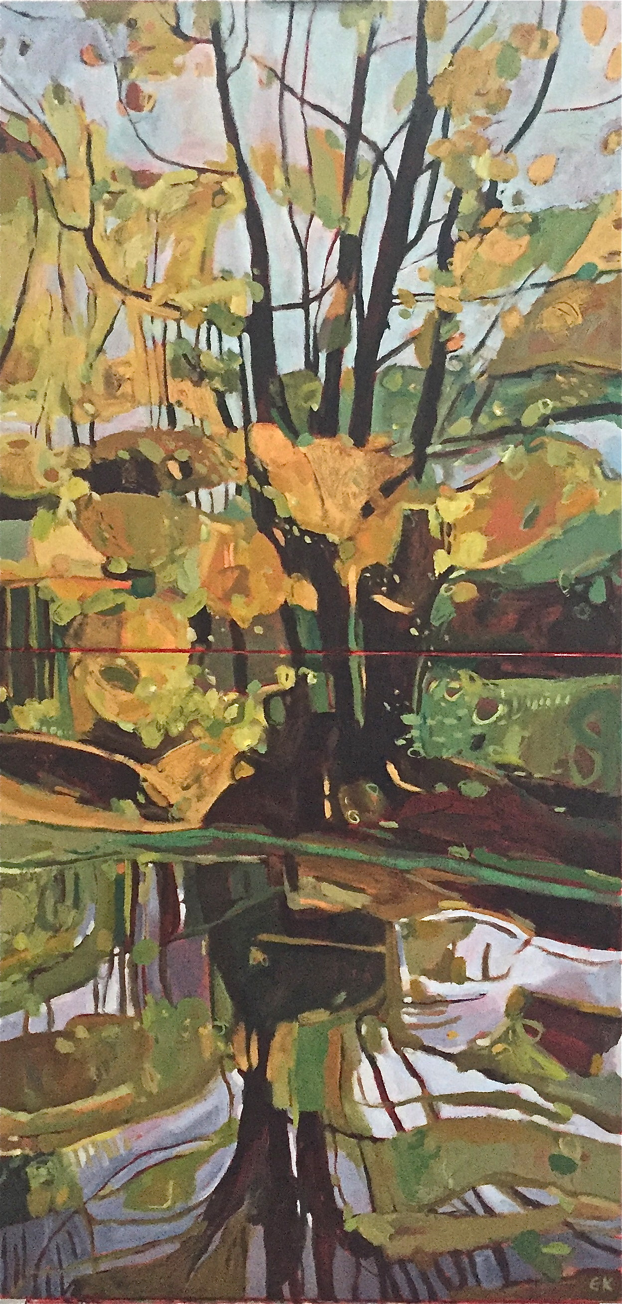 Vertical Diptych - Banks of the Cherwell