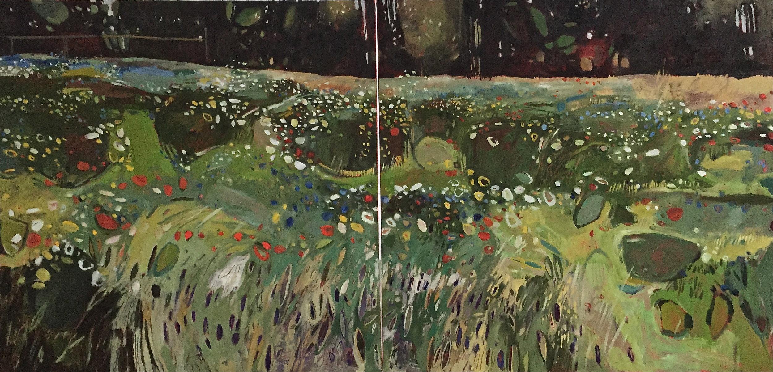 Diptych: Summer Meadow