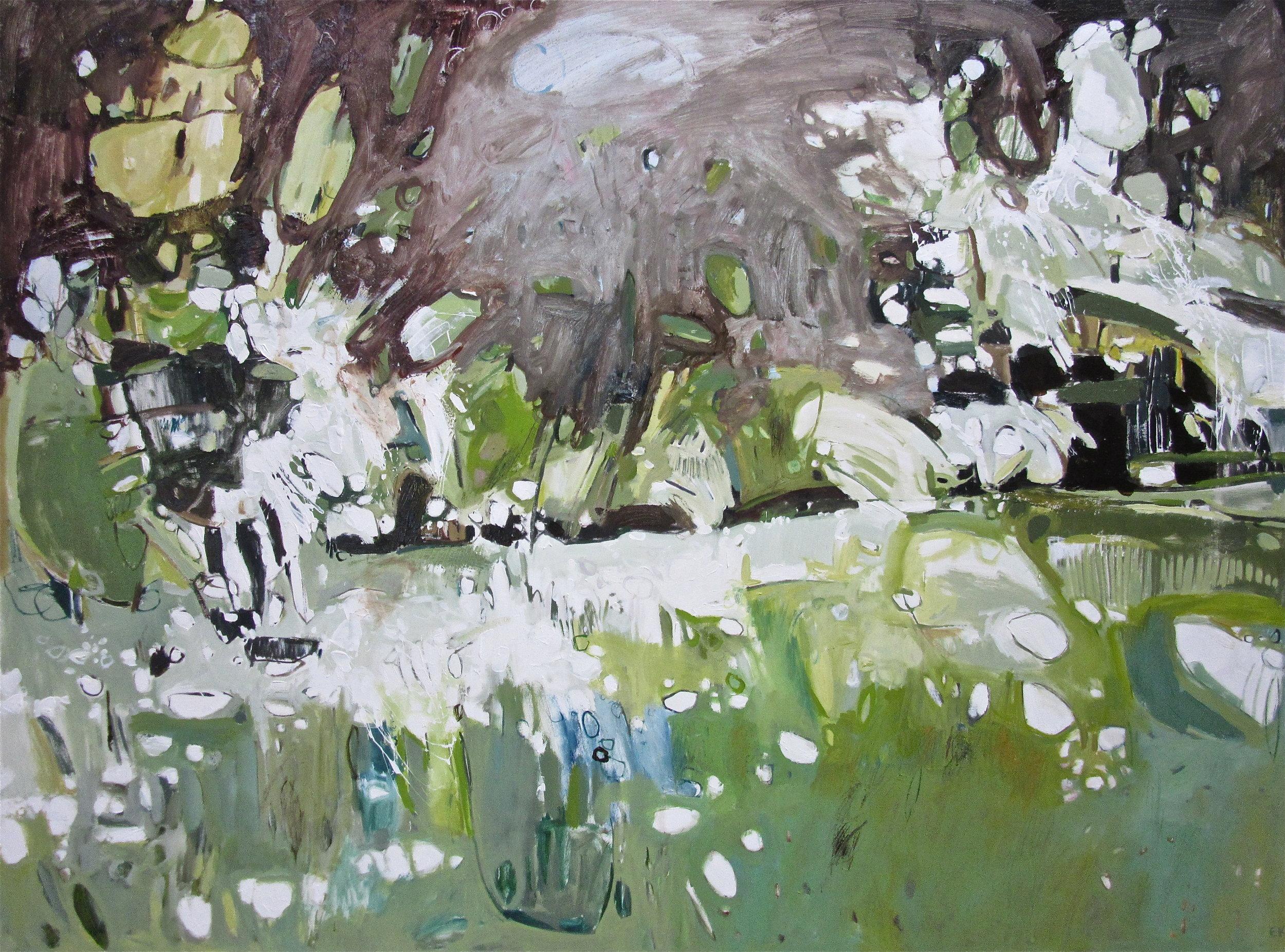 Diptych: Night Hedgerow