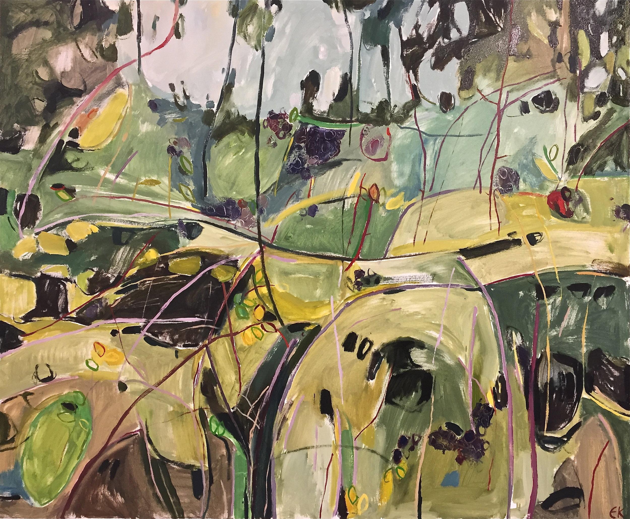 Autumn Diptych, Bramble and Elderberry (Bramble) left panel