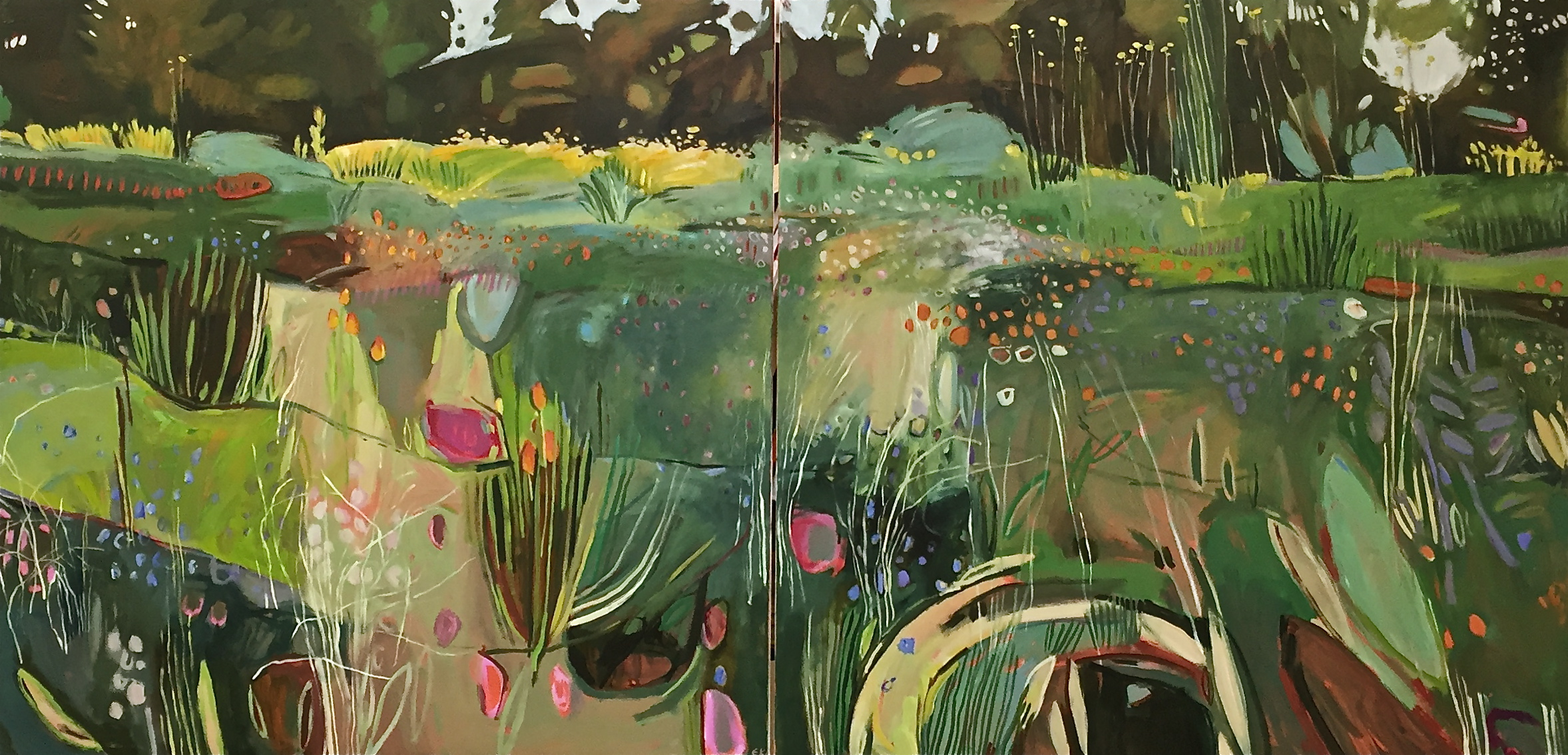 Diptych, Merton Beds, Oxford  Botanic Gardens