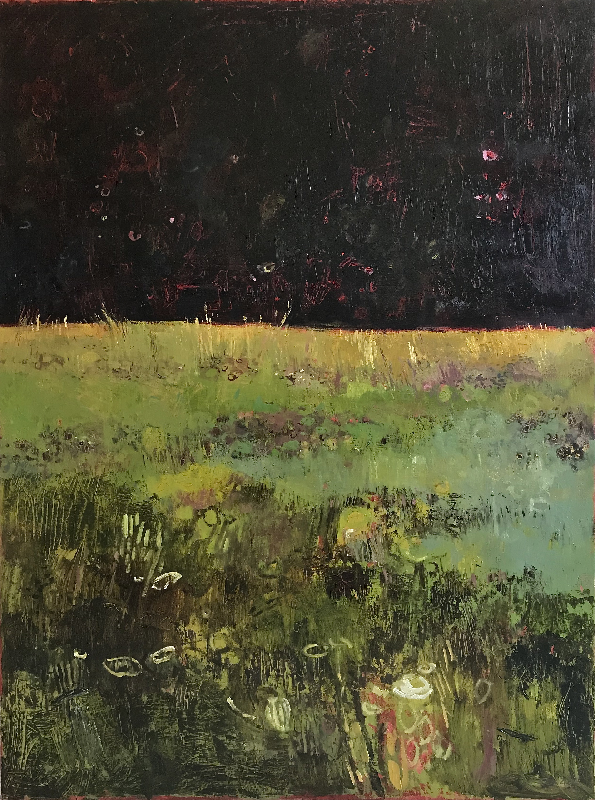 Tuscan Meadow with Fireflies