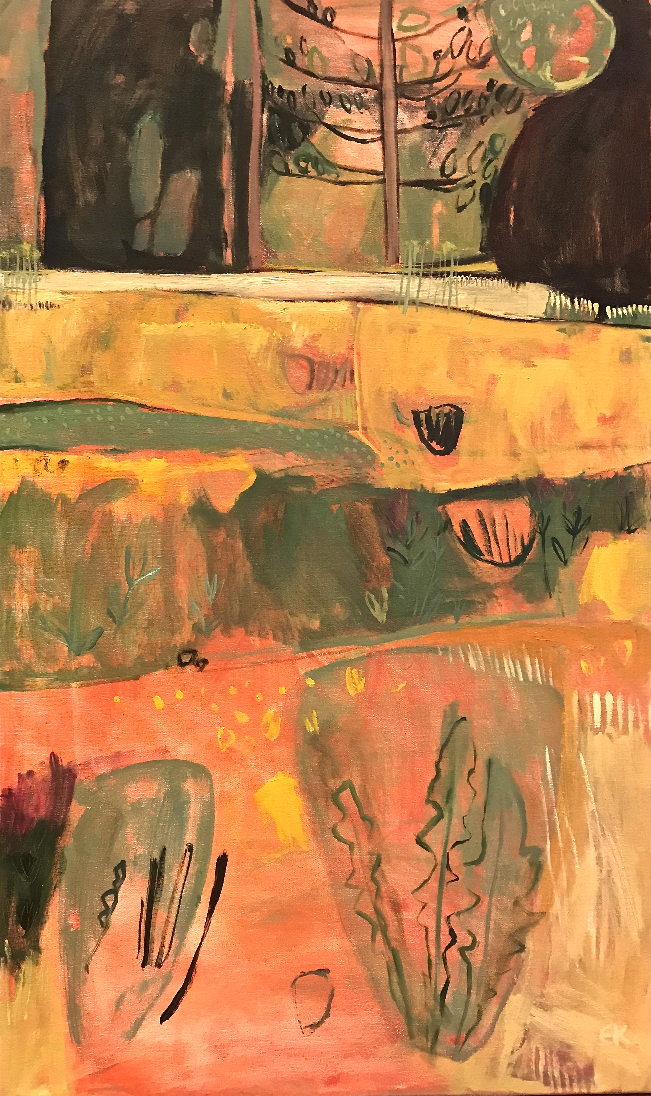 Colours of Tuscany: After the Hay Harvest, July, right panel