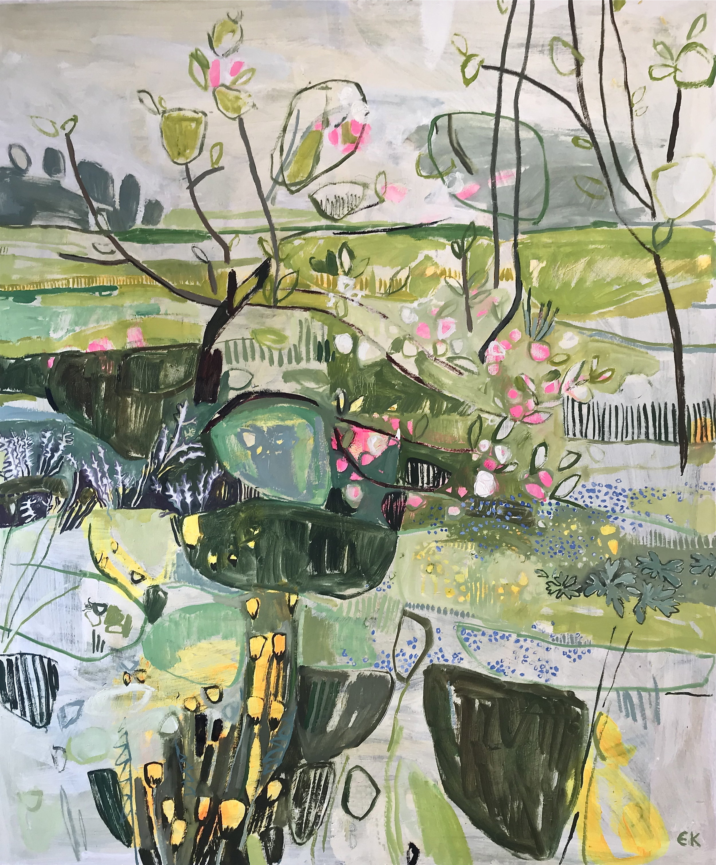 Apple Blossom at Botley Lane Allotments (Twenty Pound Meadow), Oxford I