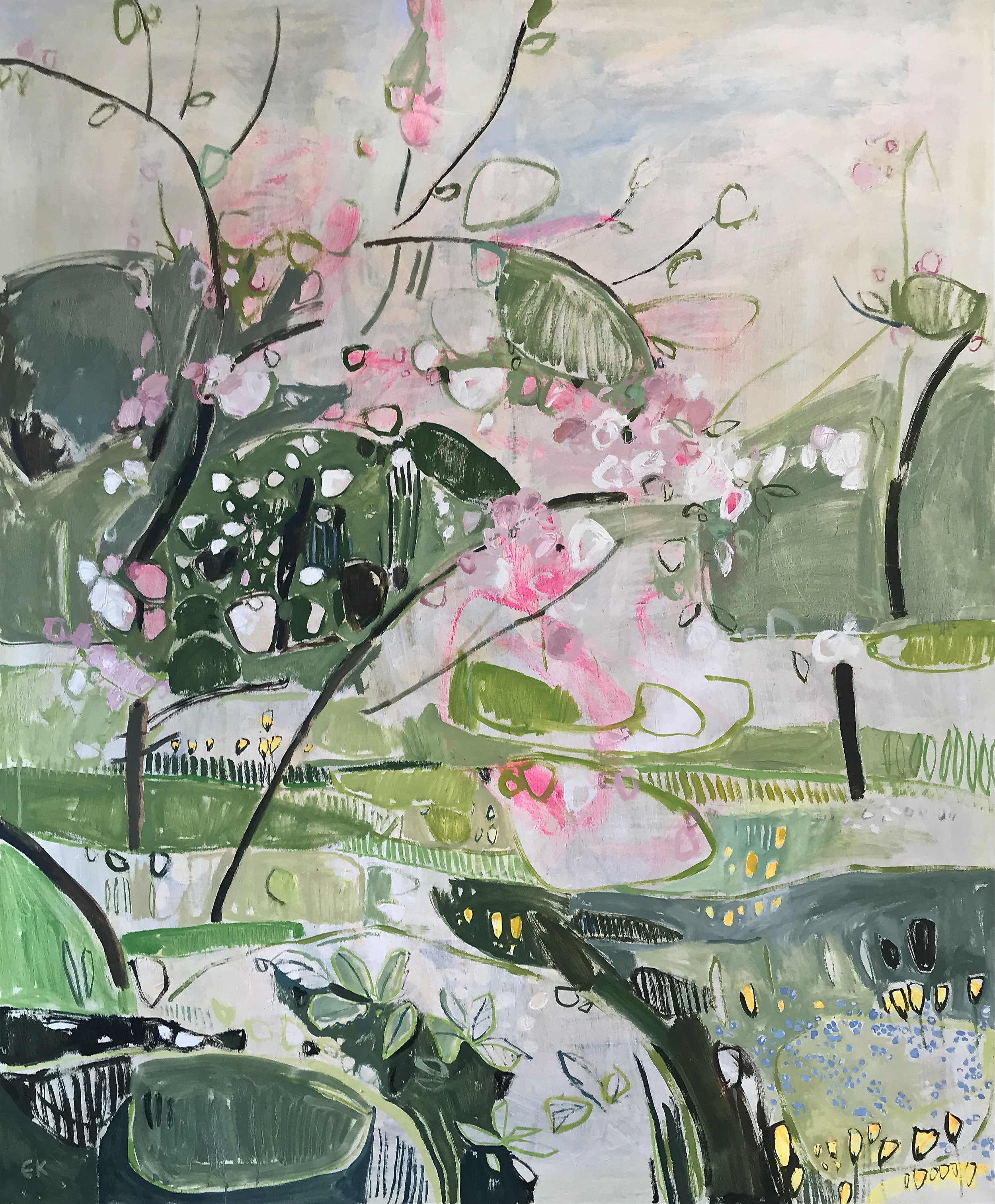 Apple Blossom at Botley Lane Allotments, (Twenty Pound Meadow) Oxford II
