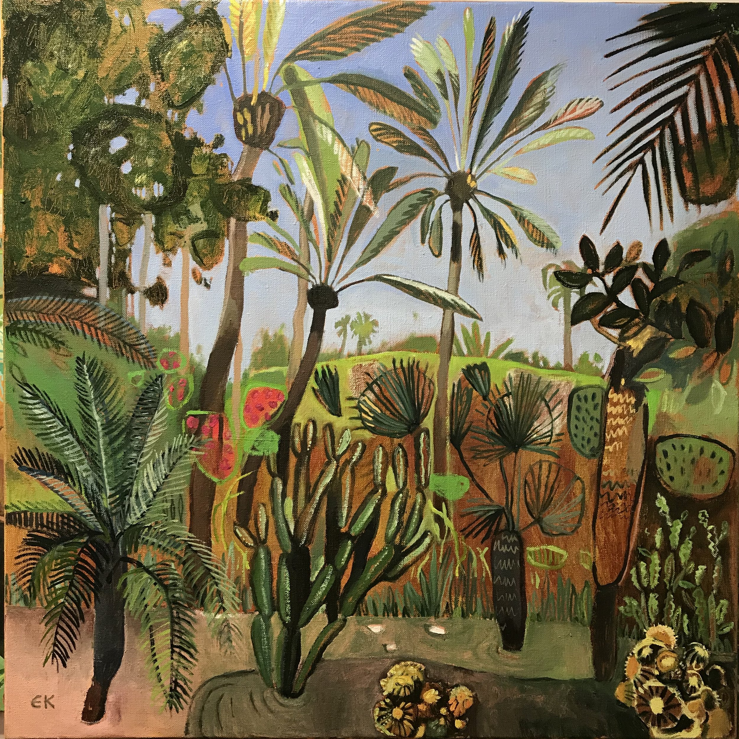 Marlorelle Garden with Cactus and Palms
