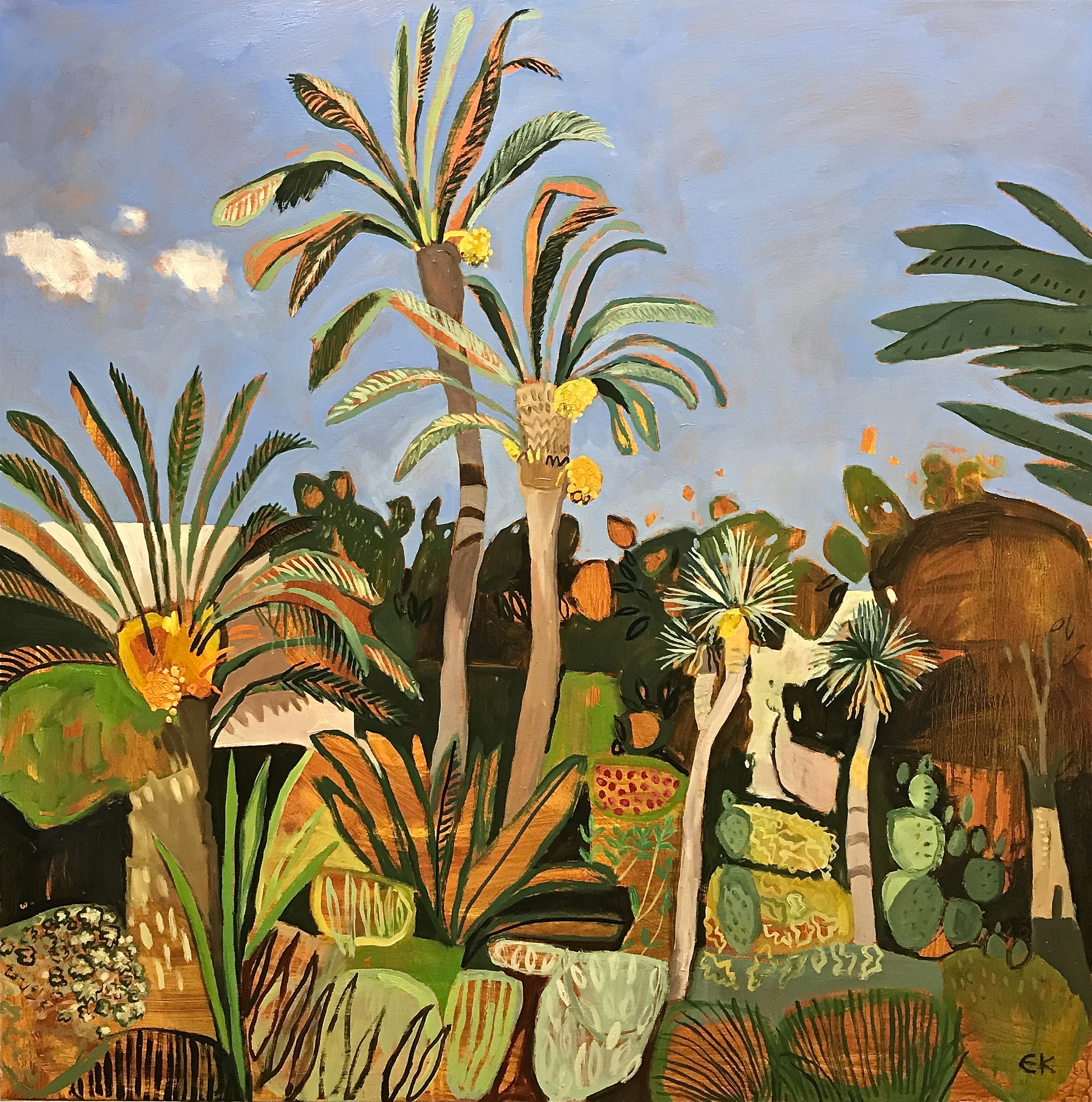 Le Jardin Secret with Date Palms, Marrakech