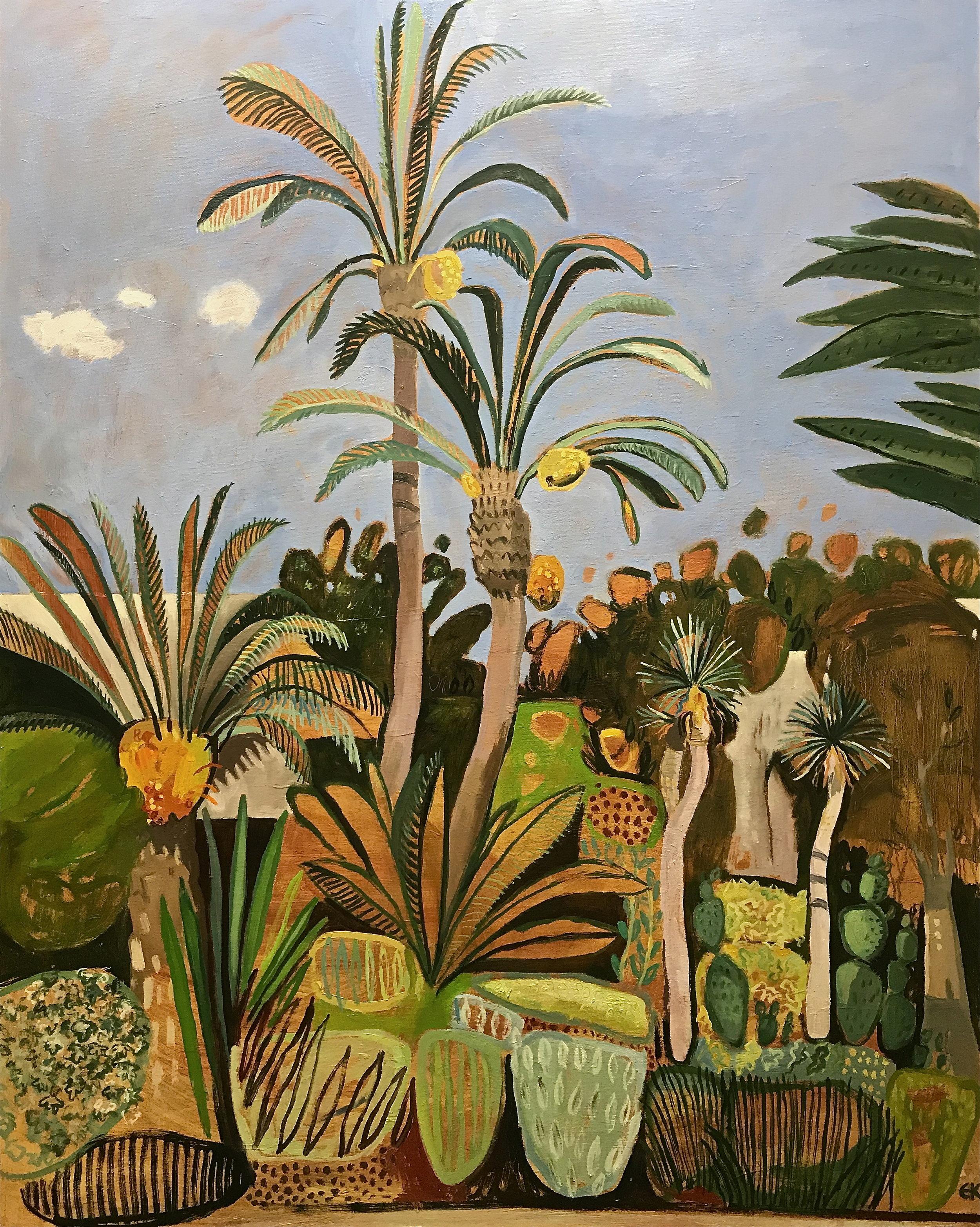 Le Jardin Secret with Tall Date Palms, Marrakech