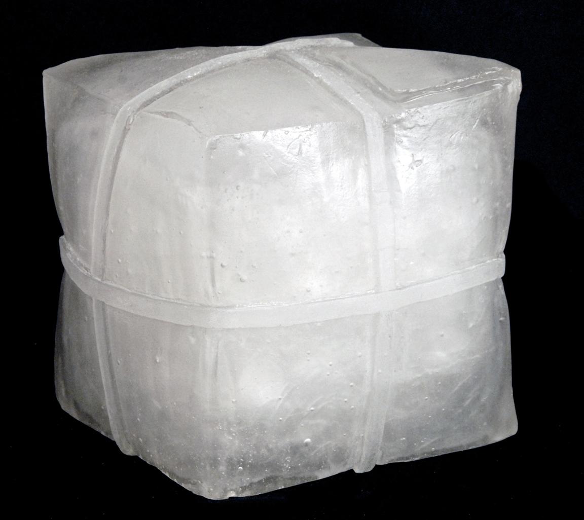 """UNTITLED (MEDIUM BOX) Cast glass  12 x 12 x 12"""""""
