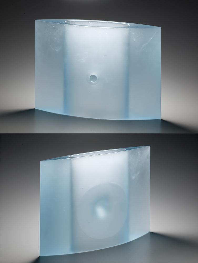 """SOLARIS Cast glass  11.75 x 15.75 x 4.25"""""""