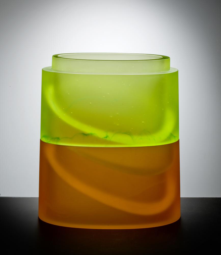 """UPSURGE Cast glass  16 x 15 x 7.5"""""""