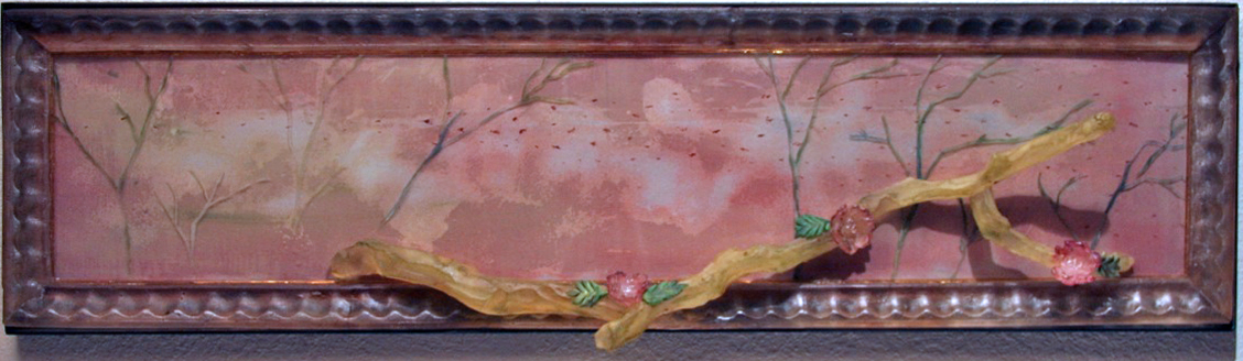 """SOLACE Cast glass, mixed media  11 x 41 x 2"""""""