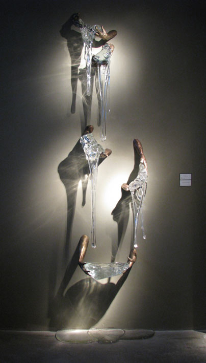 ANCESTRAL FLOW Cast bronze, blown glass  Dimensions variable