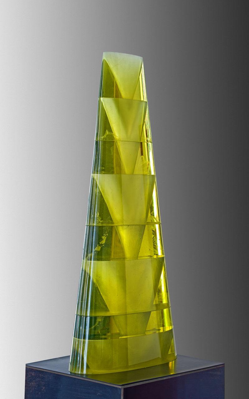 """ESCALATION  cast glass  43 x 18.5 x 8.5"""""""