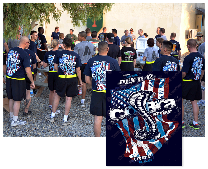 Charlie Company T-Shirt Design - Operation Enduring Freedom 2011-12.