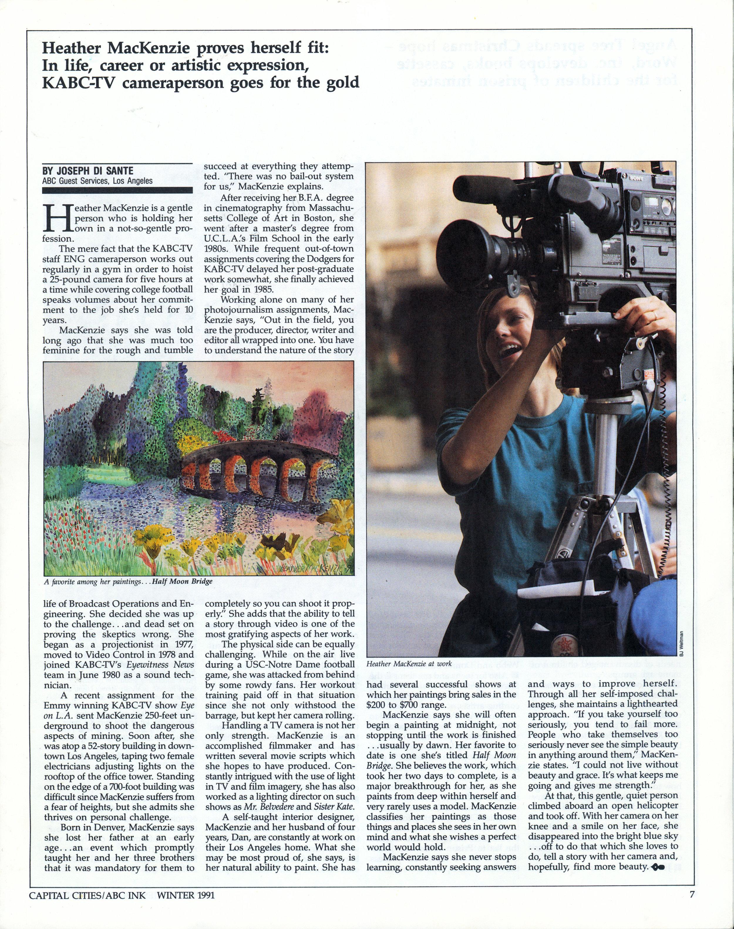 camerawoman article