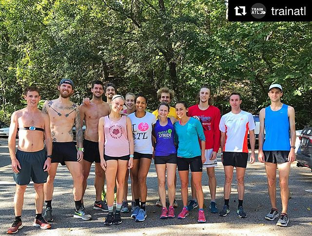 #Repost @trainatl (@get_repost) ・・・ TrainATL runners had fun running with Liz Anjos @pinkfeathers this morning! She is cover girl of the August issue of Competitor Running and is not just a runner, she's a sub-3-hour marathoner, blogger, and a recording artist keyboardist and vocalist with RAC, a popular electronic band.  Liz came into town to perform with the band RAC at Terminal West tonight! But first, she needed to get in her 18 mile training run and recovery time at TrainATL! 👟😄🎼 #trainrecoverperform #sundayrunday #trainatl #rockstarcrew #RAC 💚👟😁🎤🎼