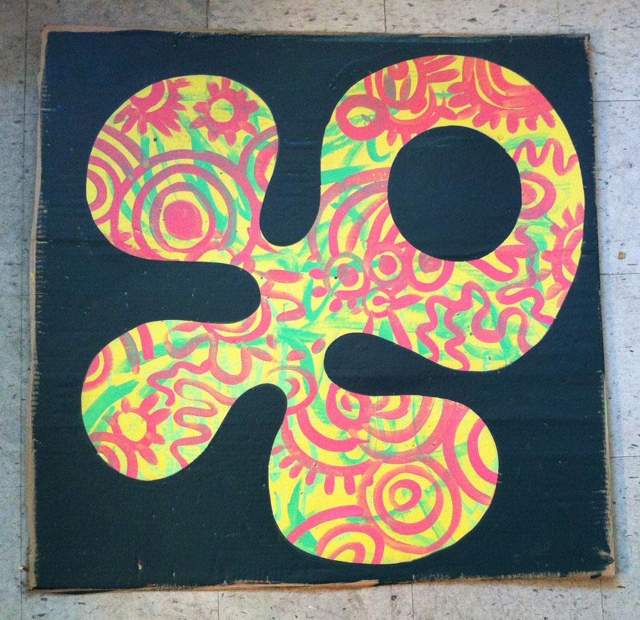 8 )  3ft x 3ft on Cardboard