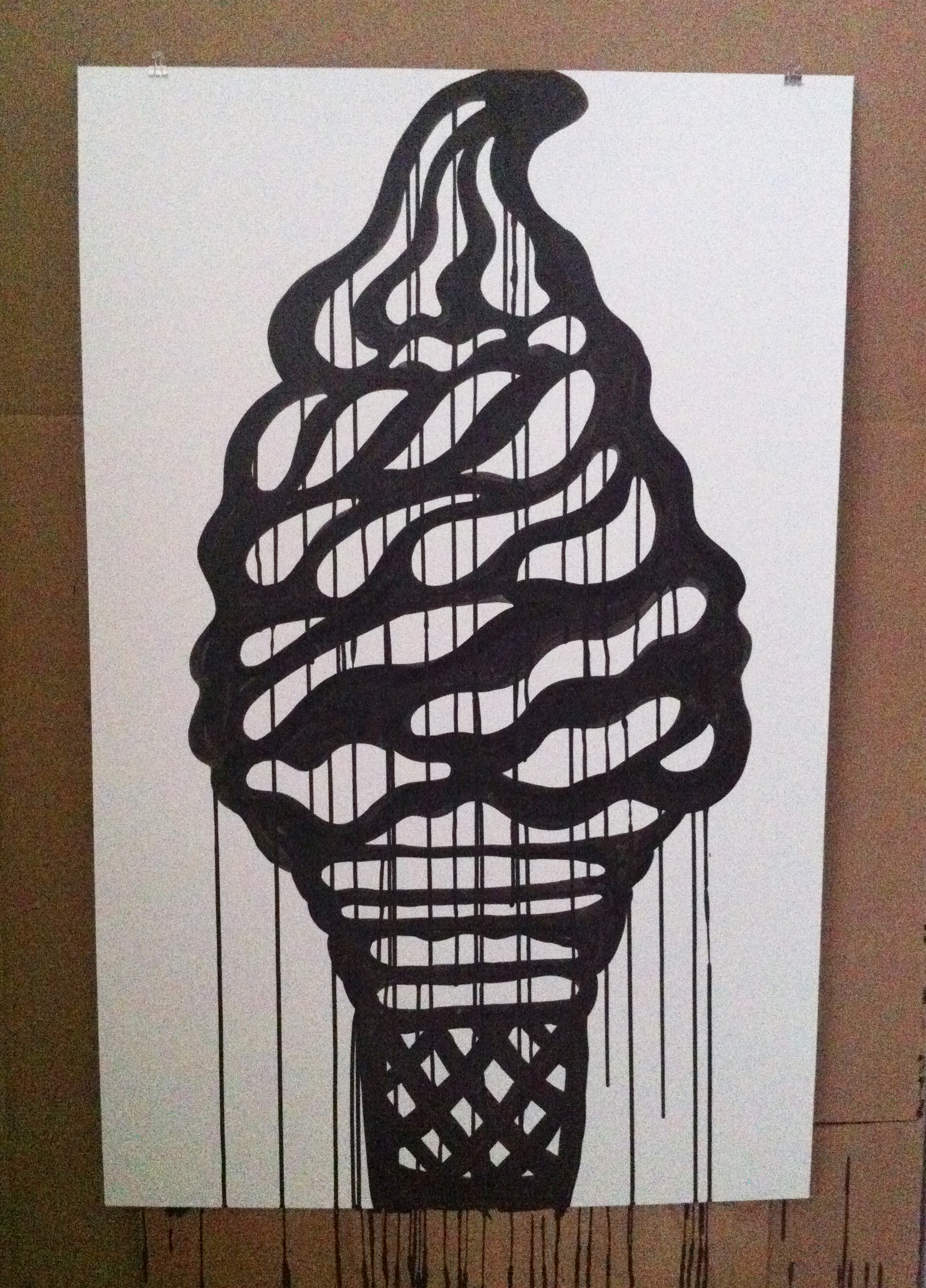 6 ink on paper 26x40