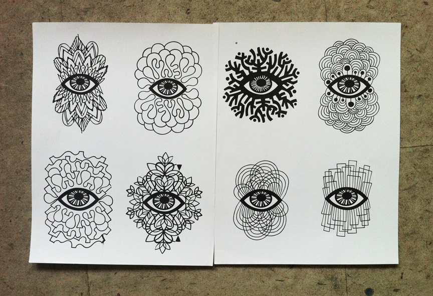 5 Eye Sketches