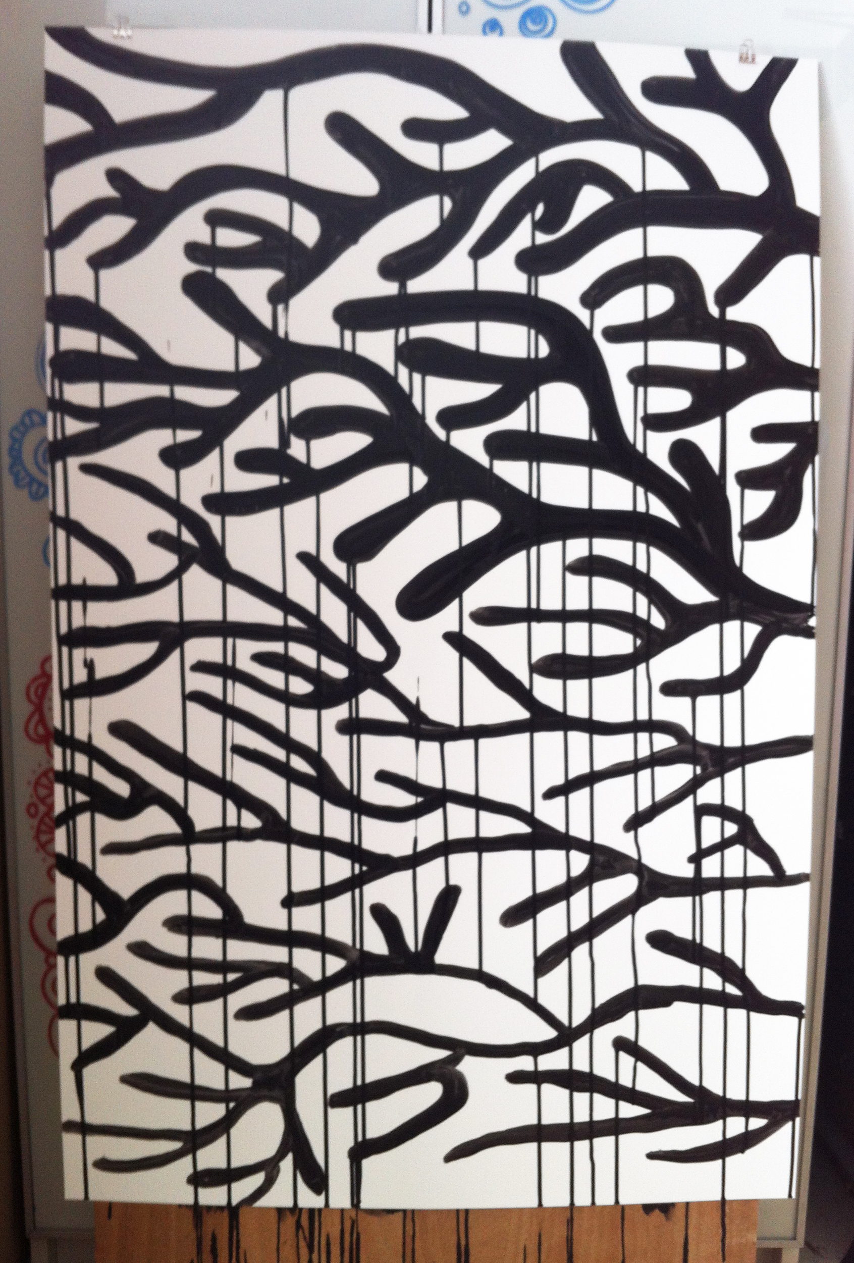 8 ink on paper 26x40