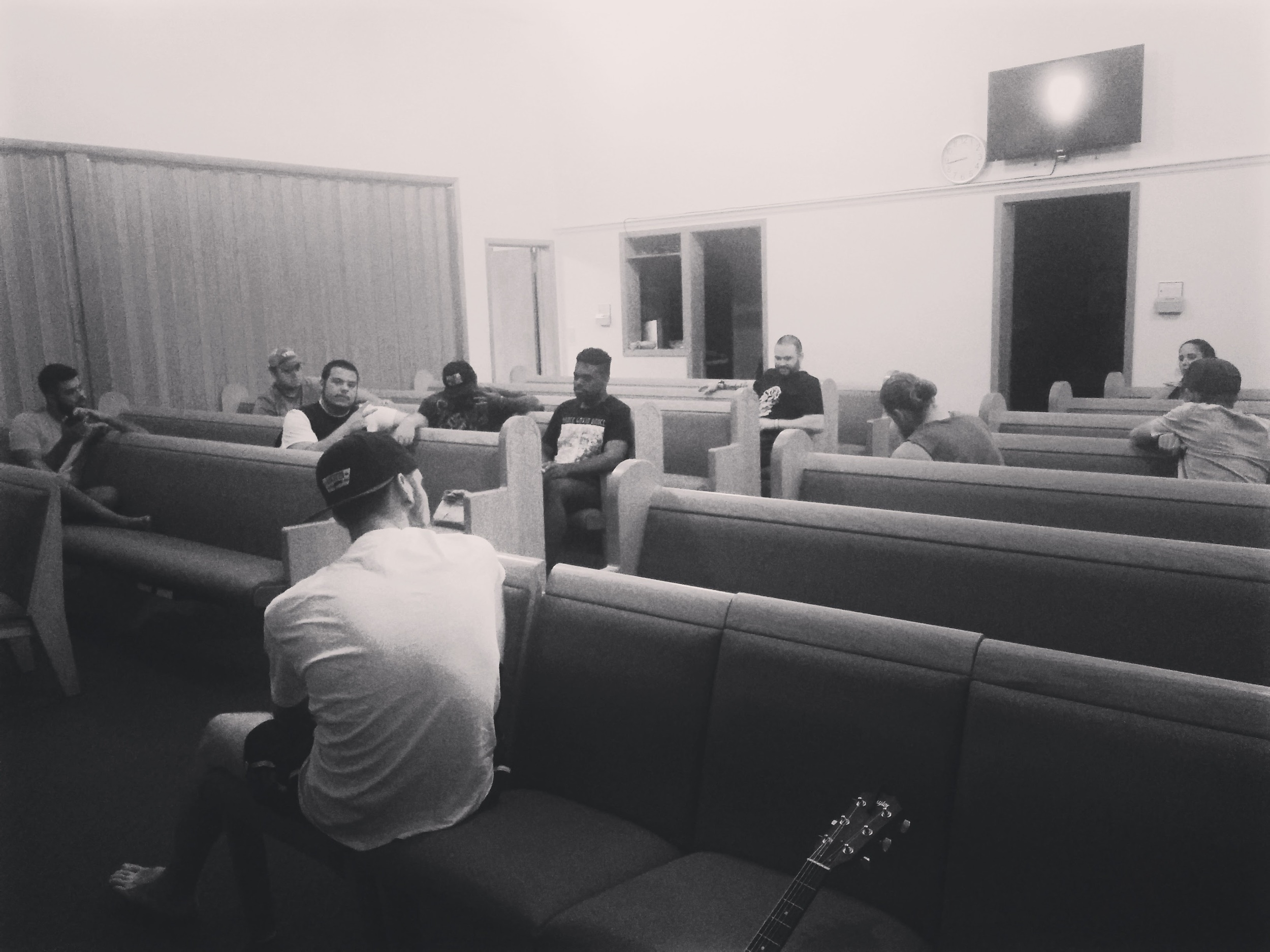 Team briefing and prayer