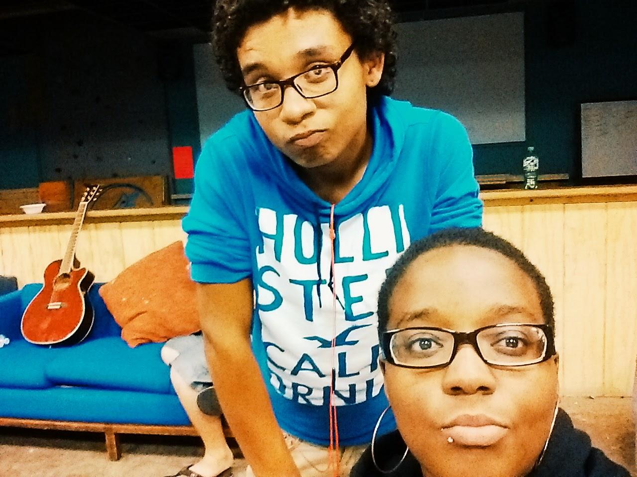 Drew and I