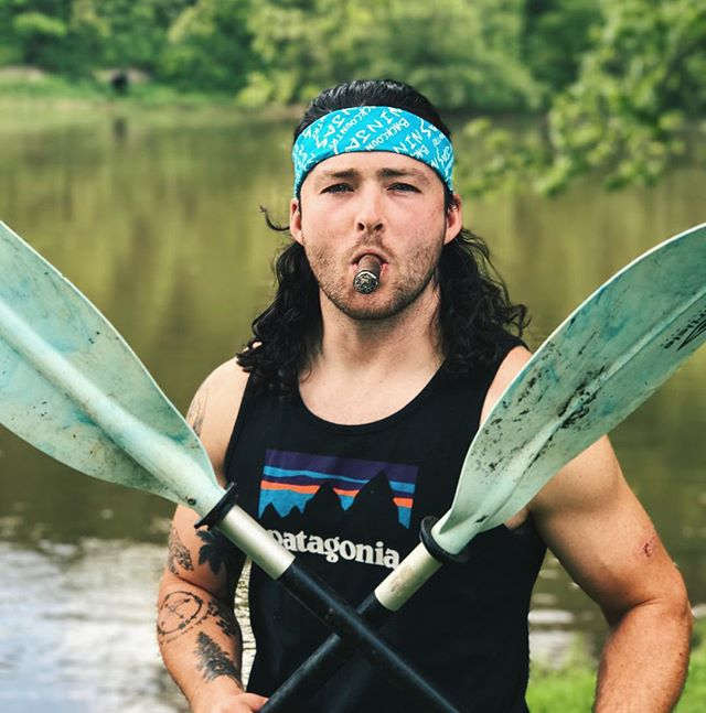 @kevin_uncapher holding it down on the river in our new Ninja bandanas.  Be up on our website tonight!