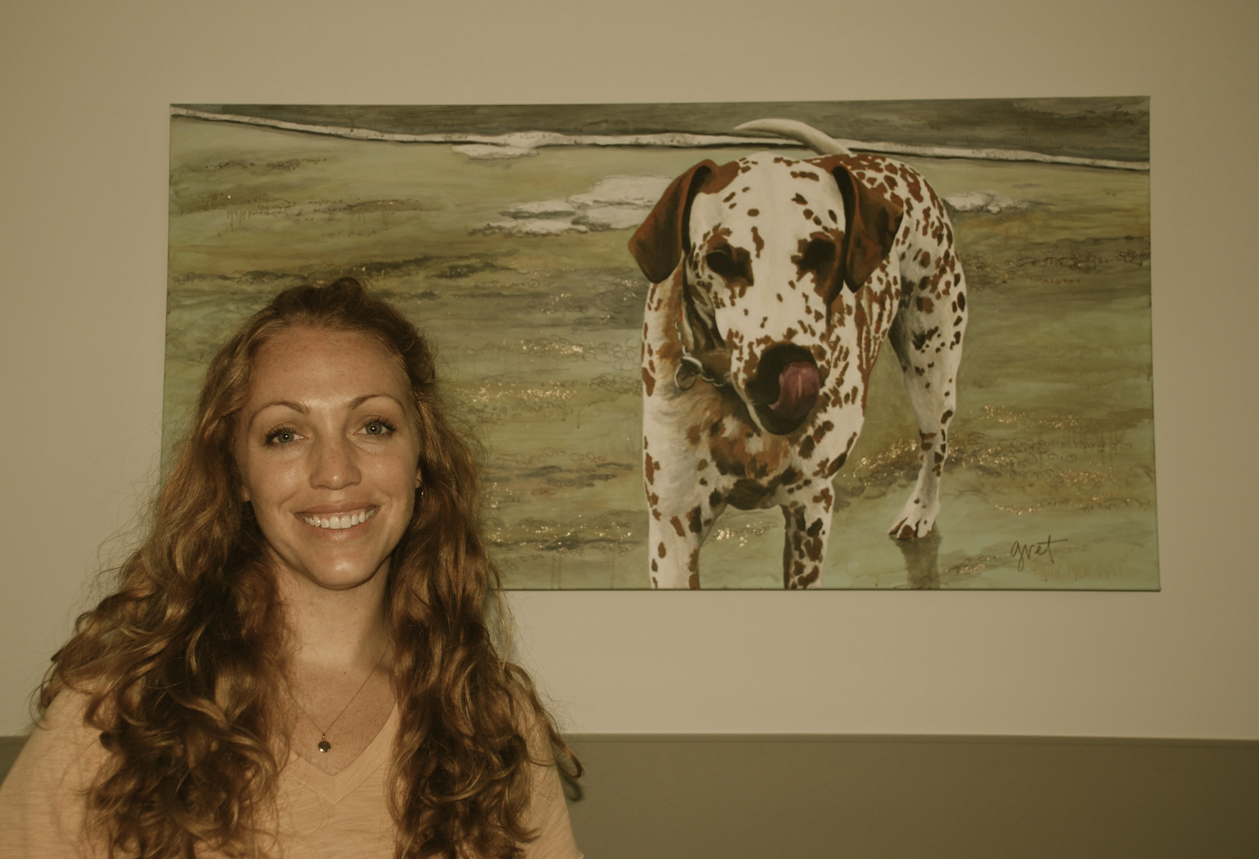 The original Louie painting (hanging in the West Ashley Vet Clinic, Charleston, SC in 2012.)