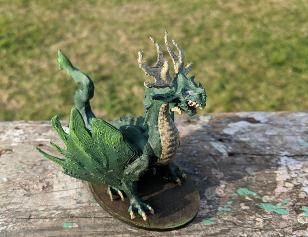 Forest Dragon  , printed and painted by  Daniel Warden