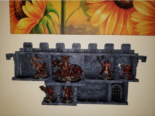 Fantasy Stonework Wallhalla  , printed and painted by  Steven Saddler