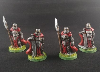 Knights  , printed and painted by  No Time for Wargames