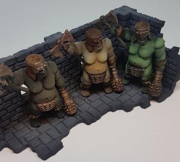 Ogre Marauders  , printed and painted by  Oddbjorn Lona